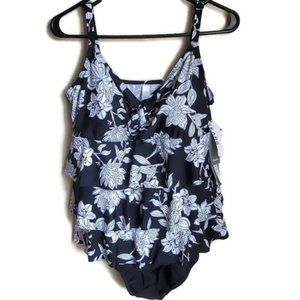 Sears | Floral patterned one piece swimsuit
